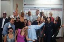 Crazy moustache day, aka Greg Wilbur's (ROI's president) birthday party.